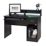 Comfort Products Essential Computer Desk Hutch Pull Out Keyboard Multiple Colors