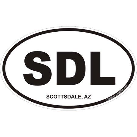 3.8 Inch Scottsdale Arizona Oval Decal (Party City Scottsdale Arizona)