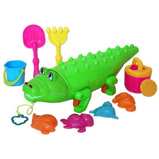 Sunshine Trading KZ-75 Alligator Sand Toy - 10 Piece Set
