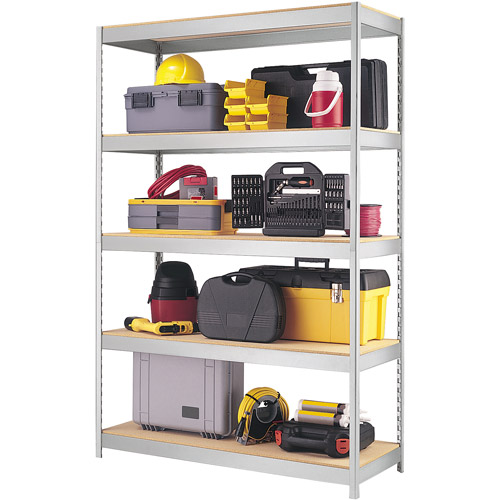 Space Solutions 1000 Series Boltless 5 Shelf Shelving, Galvanized Finish