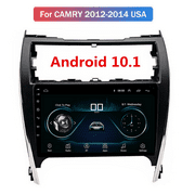 For 2012-2014 Toyota Camry Android 10.1 Car Stereo Radio WiFi GPS Navigation 10.1'' 1GB+16GB Bluetooth FM, Rear View Touch Screen IOS/Android Phone Mirror Link 2012-13-14