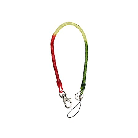 Spring Cord Design Red Yellow Grn Key Chain Strap Clip (Fresh Tags Spring)