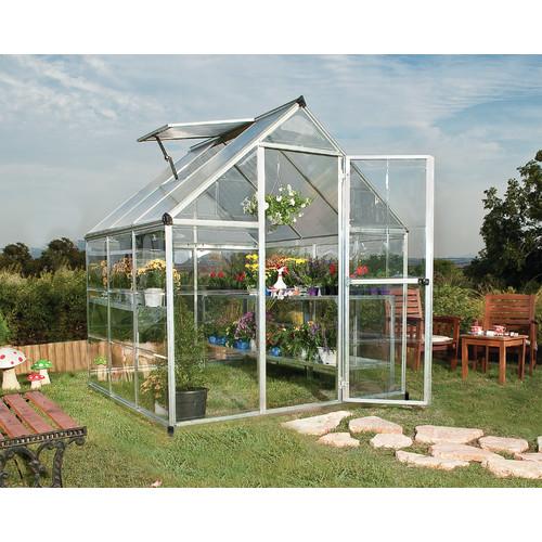 Palram Hybrid Greenhouse, 6' x 6', Silver