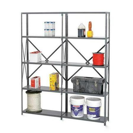 Tennsco Reinforced Shelving - TENNSCO Q2-4812 Additional Shelf, Steel, 22 ga., Gray