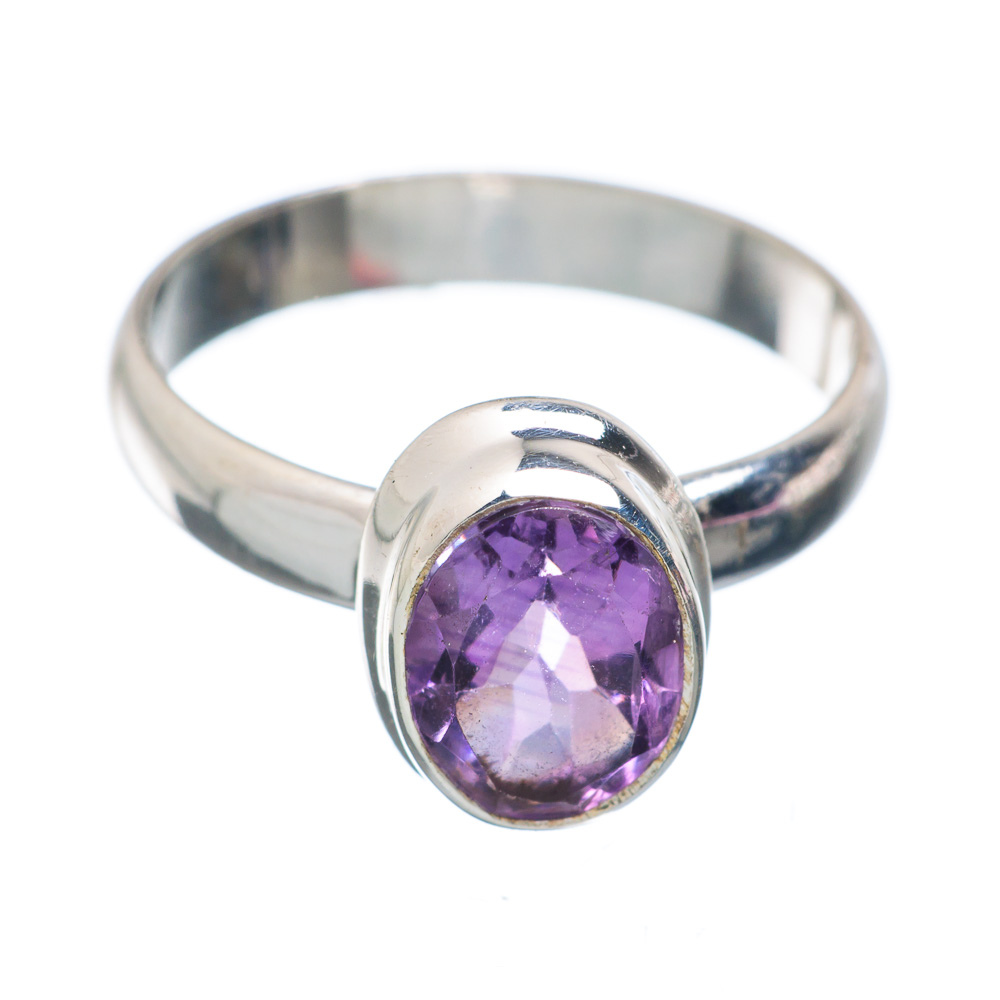 Ana Silver Co Faceted Amethyst Ring Size 4.5 (925 Sterling Silver) - Handmade Jewelry RING867215