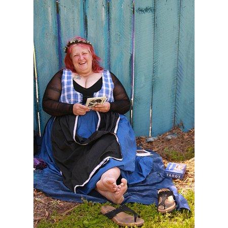 canvas print fortune teller happy big lady fair renaissance stretched canvas 10 x 14