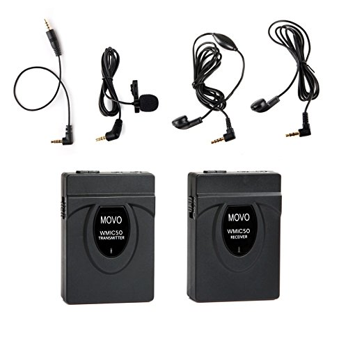 Movo 2.4GHz Wireless Lavalier Microphone System (164' Range) for Nikon D7100, D7000,... by