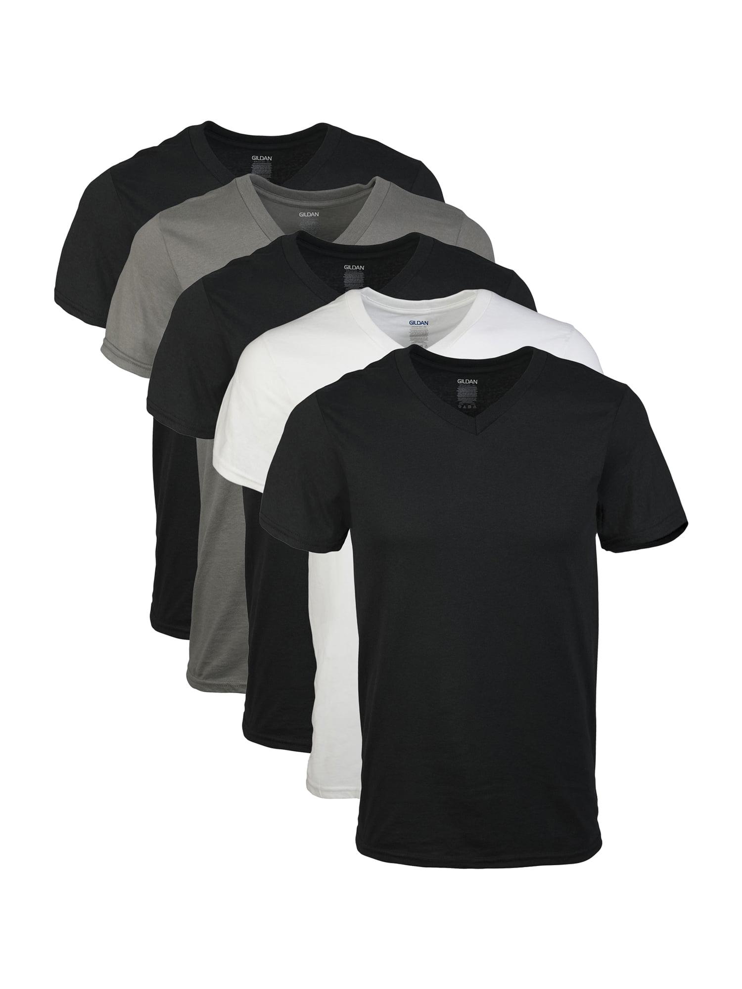 90e10091ddc Gildan - Gildan Mens Short Sleeve V-Neck Assorted Color T-Shirt, 5-Pack -  Walmart.com