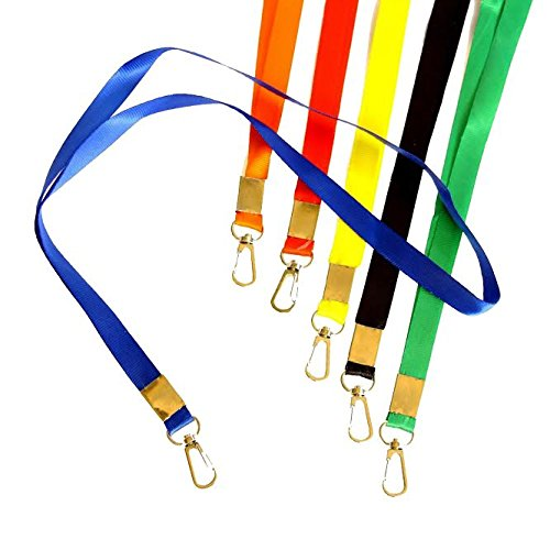 Attractive Lanyards in Vibrant Colors! Ideal for Name Tags, Trade Shows, ID Badge,Champion, Tours, and Events. Pack of 12 Durable Nylon Neck ID Name Tag Straps.