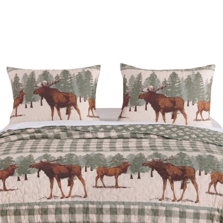 Greenland Home Fashion Moose Creek Buffalo Plaid Reversible Pillow Sham, Multicolor