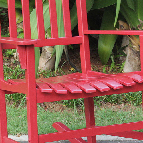 Mainstays Outdoor Rocking Chair, Red