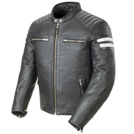 Joe Rocket Classic 92 Mens Black/White Leather Motorcycle (Joe Rocket Jordan Jackets)
