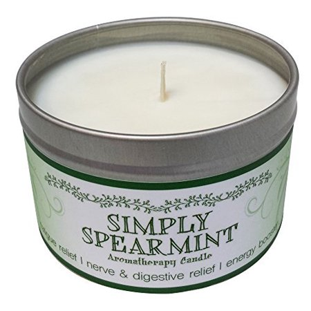 Aromatherapy Soy Wax Candle (Our Own Candle Company Soy Wax Aromatherapy Scented Candle, Simply Spearmint, 6.5 Ounce)