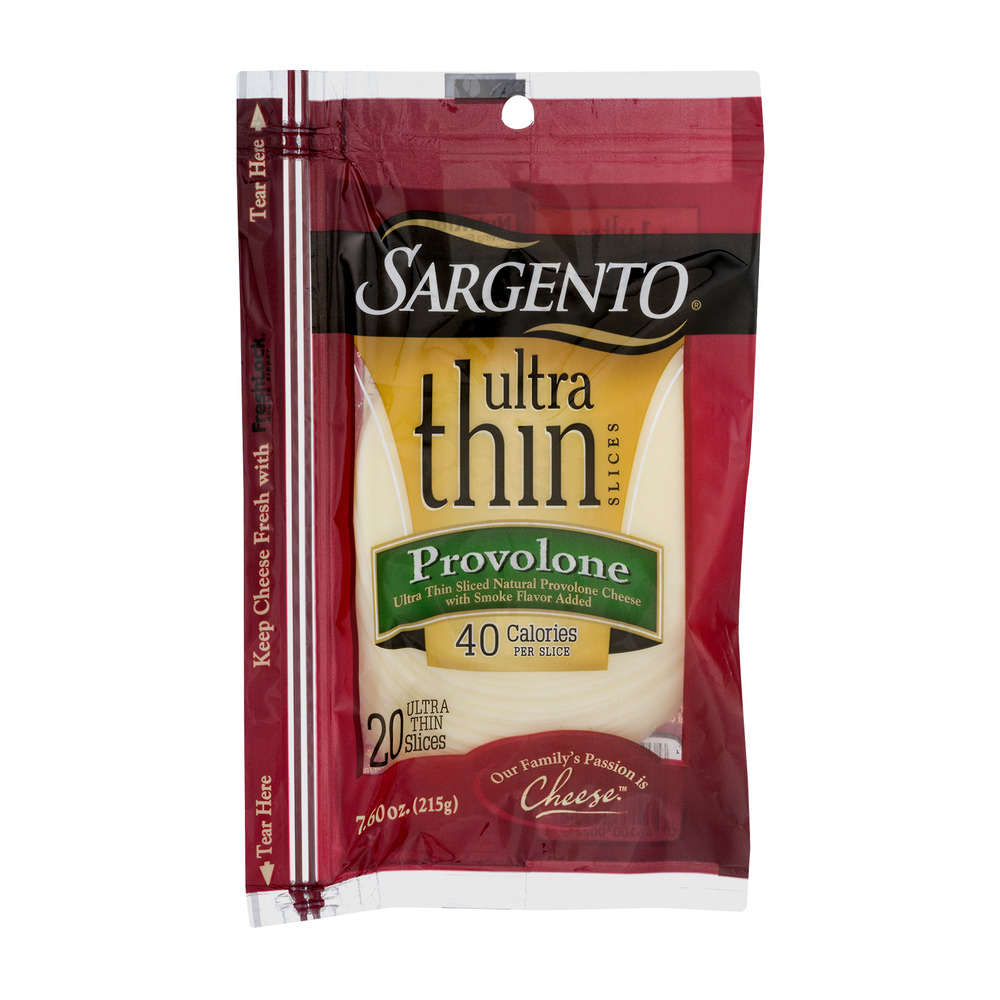 Sargento Ultra Thin Provolone Cheese Slices - 20 CT