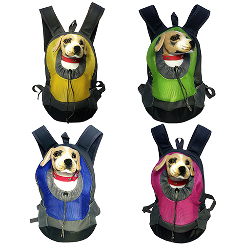 Bluelans Dog Cat Puppy Head Out Front Drawstring Carrier Oxford Fabric Backpack Travel Bag