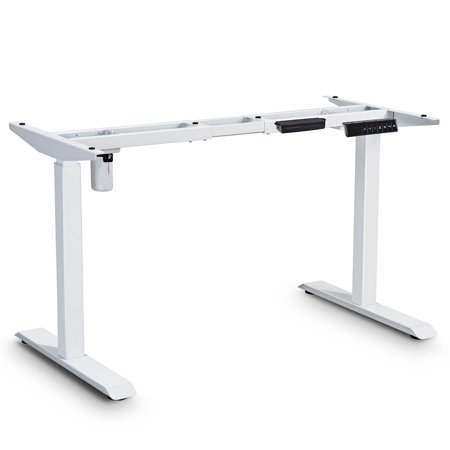 Gymax Electric Height Adjustable Standing Desk Frame Single Motor and Memory Control