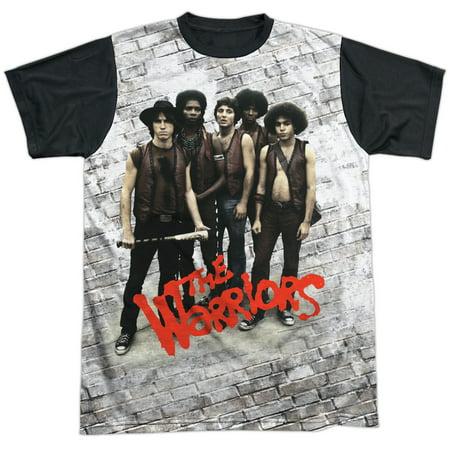 The Warriors Gang Action Thriller Movie Gang Pose Adult Black Back T-Shirt - Warriors Baseball Gang