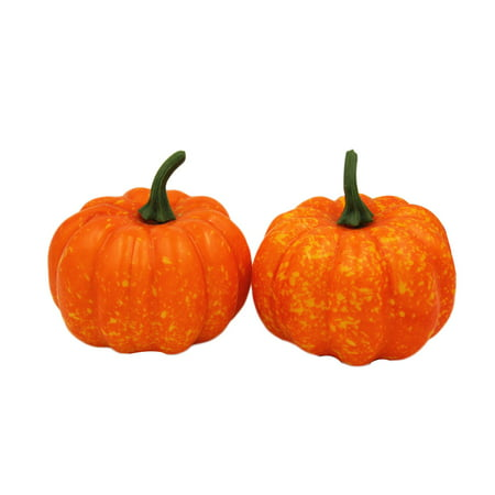 2pcs 56cm lifelike artificial mini foam pumpkin diy crafts halloween house decoration party decoration fake