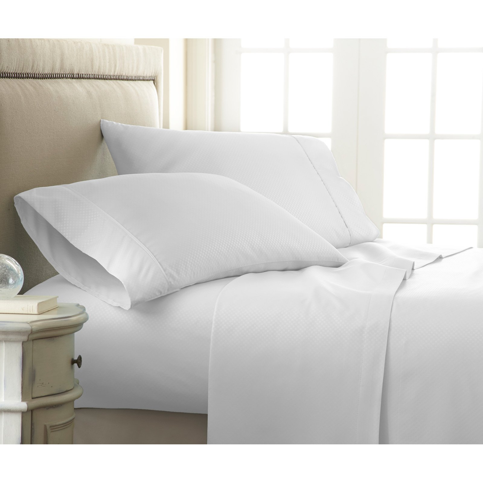 Simply Soft 4 Piece Embossed Bed Sheet Set by ienjoy Home