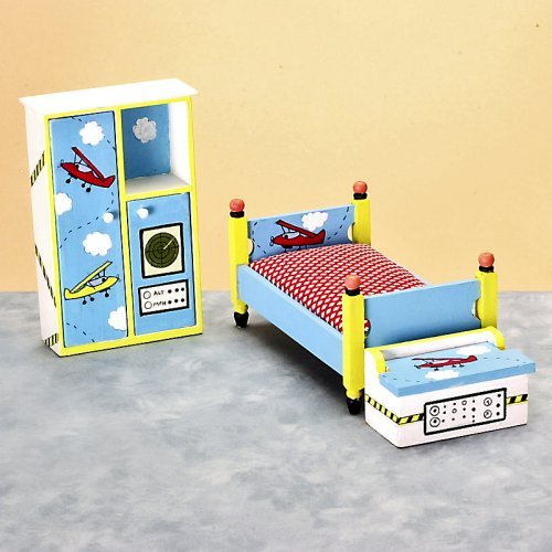 Flyer Bedroom Dollhouse Miniature Set