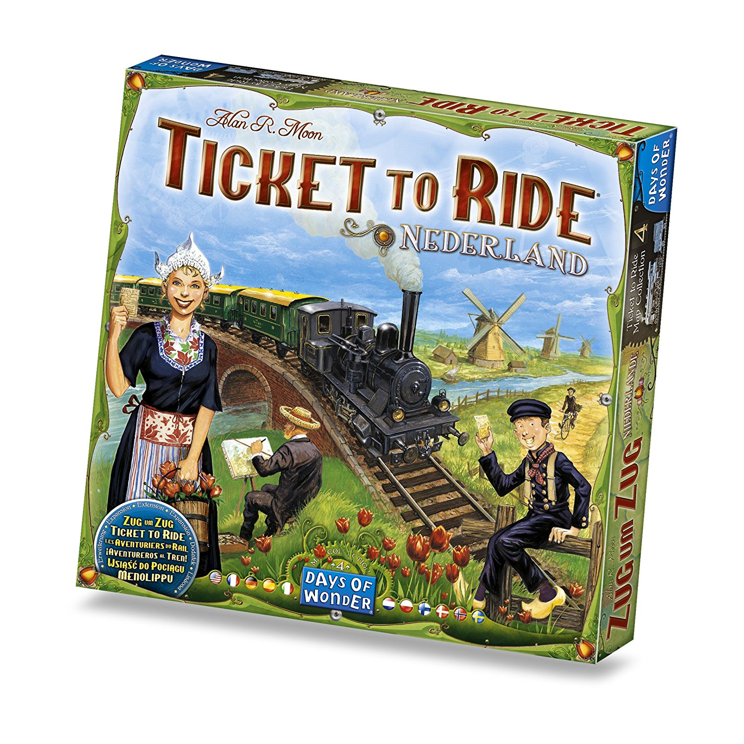 Ticket to Ride Nederland Game, Poker Word Playing Countries Nordic Size United Flowers Bears 1910 Board Language Jokers Colorado and by Search To.., By Days of Wonder