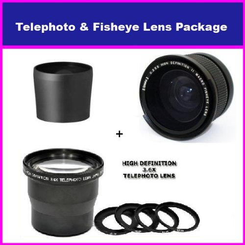 Opteka 3.5X HD Professional Telephoto lens & 0.35x HD Sup...