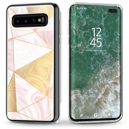 Galaxy S10 Plus Case, Evocel [Stylish Design] [Slim Profile] [Easy Push Buttons] [Simple Installation] Iconic Series Phone Case for Samsung Galaxy S10 Plus, Rose - Digital Pouch Case