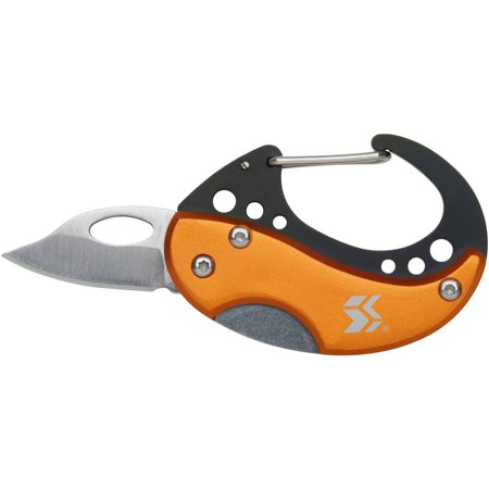 Swiss+Tech ST60329 Orange Carabiner Knife (Tech Pocket Knife)