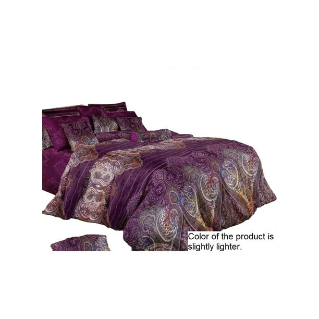 Swanson Beddings Purple Paisley 5-Piece Duvet Bedding Set: Duvet Cover, Two  Pillowcases and Two Pillow Shams (Queen) - Walmart.com - Walmart.com