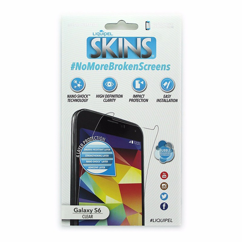 Liquipel SKINS HD Clarity Screen Protector for Samsung Galaxy S6