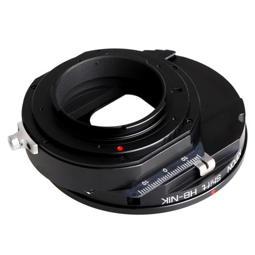 Shift Lens Mount Adapter from Hasselblad to Nikon Body by Kipon