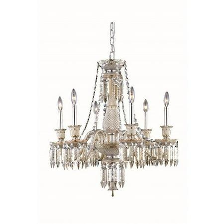 """Elegant Lighting Majestic 27"""" 6 Light Elegant Crystal Chandelier - image 1 de 1"""