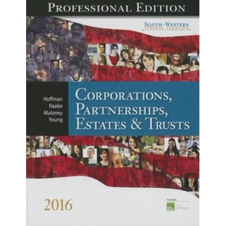 South Western Federal Taxation 2016  Corporations  Partnerships  Estates And Trusts  Professional Edition  With H Block Cd Rom