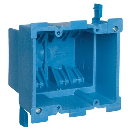 Gang Old Work Box (Carlon Super Blue BH234R Old Work Outlet Box, 2 Gang, 34 cu-in x 3-7/8 in L x 2-3/8 in W)
