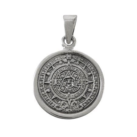 Highly detailed sterling silver aztec calendar pendant walmart highly detailed sterling silver aztec calendar pendant aloadofball Images
