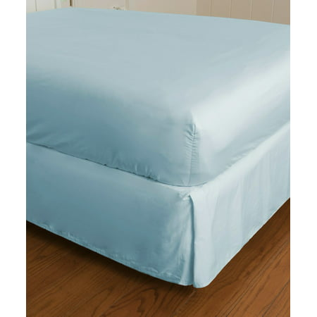 Warm Things Home 300 Thread Count Cotton Sateen Fitted Bottom Sheet BLUE / California King