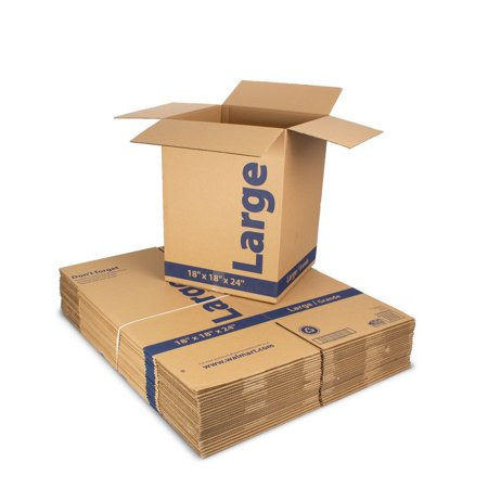 (25 count) 18L x 18W x 24H in. Recycled Kraft Moving Boxes](Cheap Boxes)