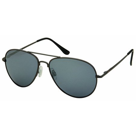 Unisex Classic Aviator Polarized Light Weight Metal Super Awesome Sunglasses - Black - (Awesome Sunglasses)