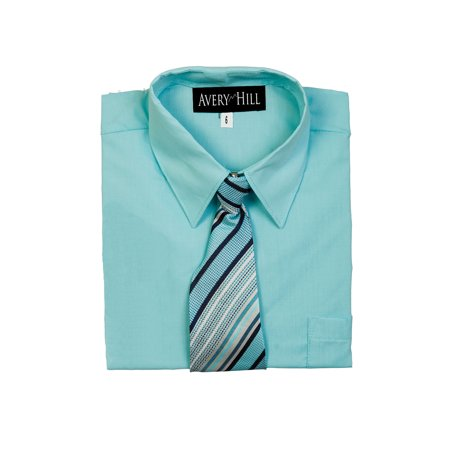 Avery Hill Boys Short Sleeve Dress Shirt With Windsor