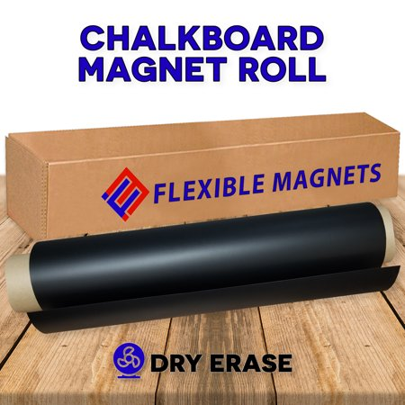 Black Dry Erase Chalkboard Magnet Sheet/Roll for Kitchen or Office, With White Magnetic Chalk Marker (2 ft x 5 ft)