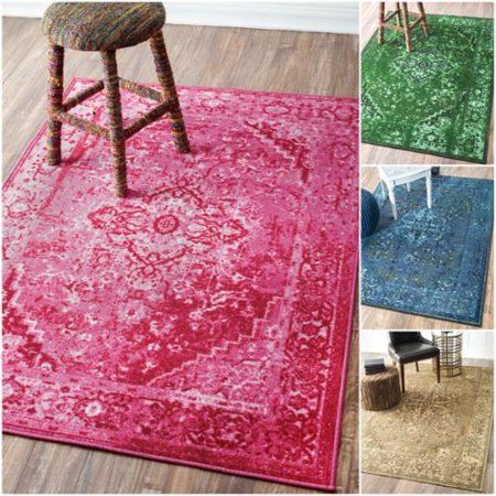 nuLOOM Traditional Vintage Inspired Overdyed Fancy Multi Rug (8\' x ...