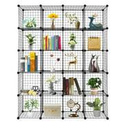 20-Cube Organizer Cube Storage Storage Shelves Wire Cube Storage Origami Shelves Metal Grid Multifunction Shelving Unit Modular Cubbies Organizer Bookcase