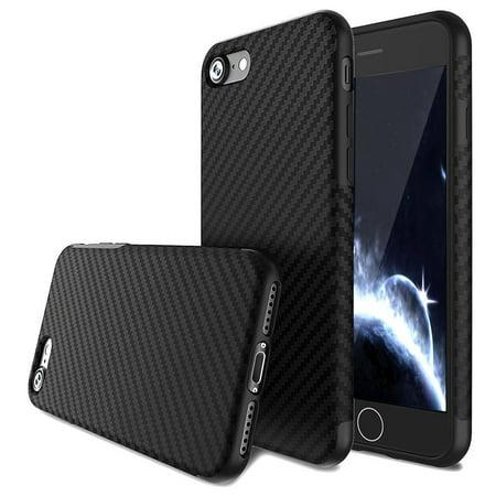 15cb2e63fdf iPhone 5S Case,iPhone SE Case, Luxury Carbon Fiber Line Flexible TPU  Silicone Ultra