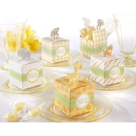 - ASSORTMENT OF 48 PIECES BORN TO BE WILD FAVOR BOX BABY SHOWER