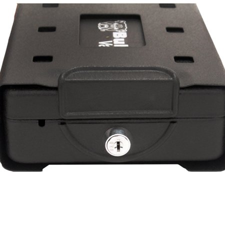 """Bulldog Cases Car/Personal Safe w/ Key Lock, Mounting Bracket & Cable Exterior size 8.7"""" x 6"""" x 2.5"""" / Interior Size 7"""" x 5.25"""" x 2"""""""