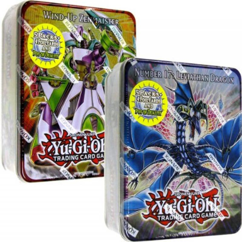 Konami YuGiOh ZEXAL 2011 Wave 1 Set of Both Holiday Tin S...