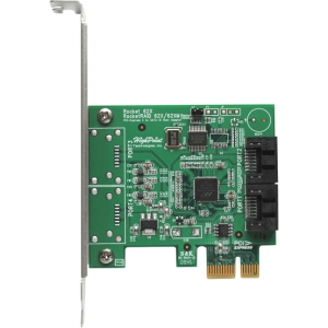 HighPoint Rocket 620 Dual Port SATA 6Gb/s PCI-Express 2.0 Host Adapter - Serial ATA/600 - PCI Express 2.0 x1 - Plug-in Card - 2 Total SATA Port(s) - 2 SATA Port(s) Internal SATA PORTS 6G HBA