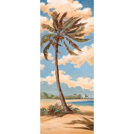 Palm Breeze II - Mini Quality Vintage Popular Sand Tree Retro Classic Seascape Poster 8X20