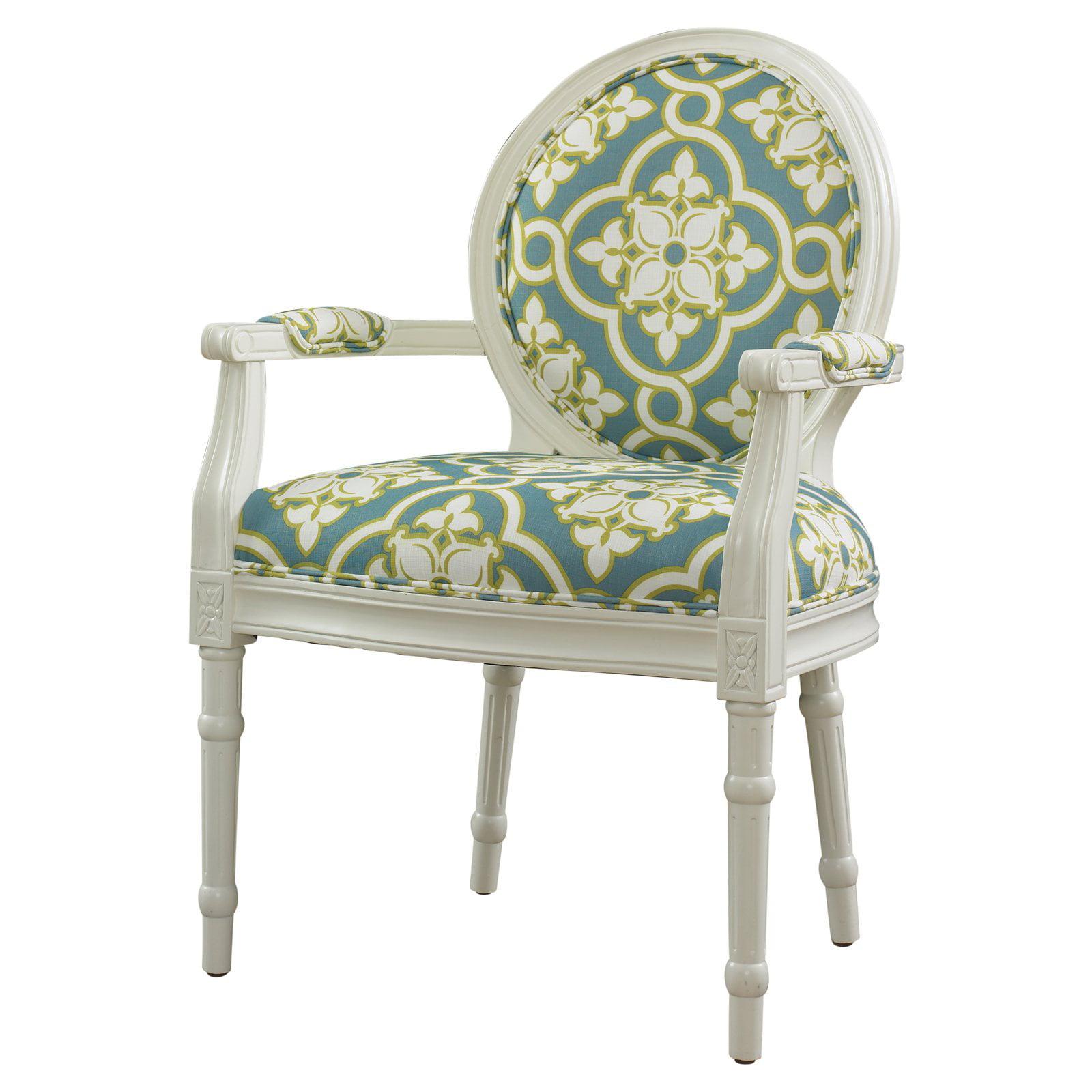 Coaster French Script Accent Chair White Walmart