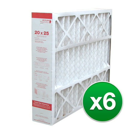 White Rodgers Furnace Filters - 20x25x4 Air Filter Replacement for Honeywell AC & Furnace MERV 11 - 6 Pack